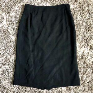 J. Crew Wool Black Pencil Skirt  - Petite